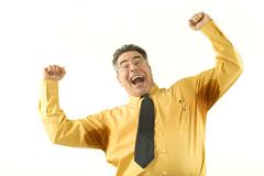 Businessman with sweaty armpits Stock Photos