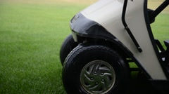 Golf Cart In Heavy Rain Storm Stock Footage