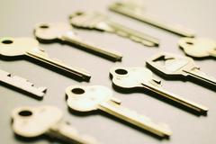 Array of keys Stock Photos