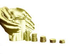 save money grow money - stock illustration