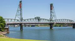 Portland Hawthorne Bridge 564 Stock Footage