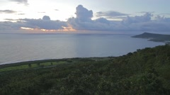 Wide view sunset at guanshan Stock Footage