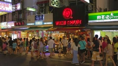 Pingtung Night Market - popular section of night market Stock Footage