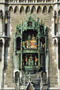 Glockenspiel at the new city hall, munich, bavaria, germany, europe Stock Photos