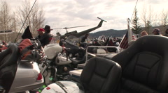 Motorcycles galore at Angelfire Stock Footage