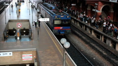 Brazilian train station, Estacao Luz Light Station, Sao Paulo, Brazil - Rail Stock Footage