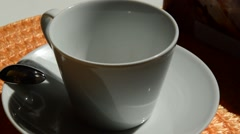 Filling cup of coffe Stock Footage