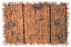 od wooden christmas background. - stock illustration