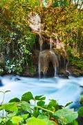 Stock Photo of waterfall duden at antalya turkey