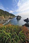 Stock Photo of view from sisters rocks viewpoint, klamath, california, usa
