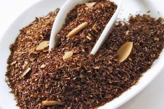 Stock Photo of rooibos tea with amaretto-cream aroma, almonds and cocoa nibs