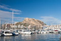 harbour of alicante, spain - stock photo