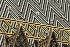 mosaic, panoply roof of stephansdom, stefansdom, st. stephen\'s cathedral, vi - stock photo