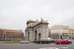 arch of triumph in madrid - stock photo