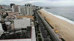 Rio de Janeiro Impanema Beach on Monday morning c Stock Footage