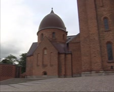 Roskilde Cathedral - Christian IX Funerary Chapel  + pan Roskilde Gymnasium Stock Footage