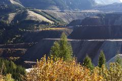 Erzberg mine near eisenerz, steirische eisenstrasse scenic route, styria, aus Stock Photos