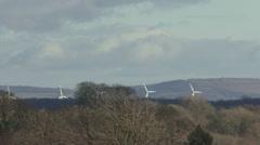 Distant wind turbines. Stock Footage