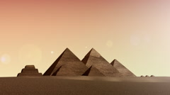 Animation of pyramids from dusk till dawn Stock Footage