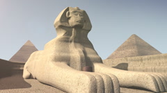 Animation of the sphinx in Egypt - stock footage