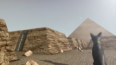 A 3D animation of the Giza platform Egypt - stock footage