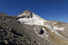 Eastern flank of mount hood volcano, cooper spur trail, cascade range, oregon Stock Photos