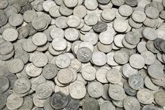 25 US cent coins Stock Photos