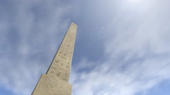 An animation of an obelisk with hieroglyphs Stock Footage