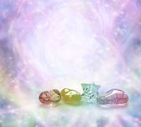 Cosmic Healing Crystals Stock Illustration