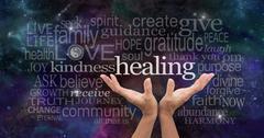 Infinite Healing Words - stock illustration