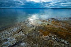 West thumb geyser basin yellowstone Stock Photos