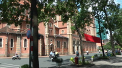Saigon Notre Dame Cathedral4 Stock Footage