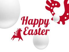 Red and white Easter video postcard/Happy Easter Stock Footage