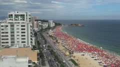 Rio de Janeiro Ipanema looking down on a Saturday Stock Footage
