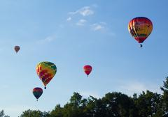 metamora, michigan - august 24 2013: colorful hot air balloons launch - stock photo