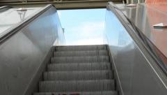 Movement on escalators - upstairs Stock Footage