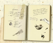 Recipe book video Stock Footage