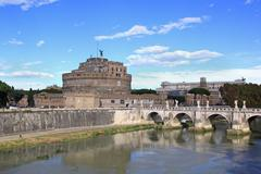 Sant angelo bridge in Rome, italy Stock Photos