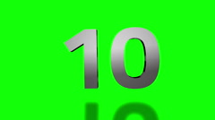 Countdown from ten to one Stock Footage