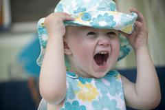 infant, 18 months, portrait - stock photo