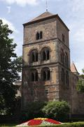 katharinenturm tower, diocese ruin in bad hersfeld, rhoen, hesse, germany, eu - stock photo