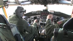 127th Wing KC-135 stratotanker Quick reaction alert pilots in cockpit QRA Stock Footage