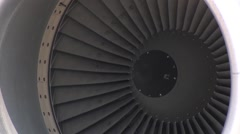 127th Wing KC-135 stratotanker close up of engine Stock Footage