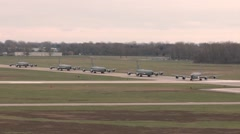 127th Wing KC-135 stratotanker taxing Stock Footage