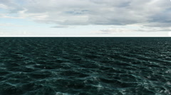 Digitally generated blue ocean moving Stock Footage