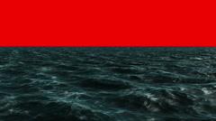 Digitally generated blue ocean moving - stock footage