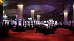 Casino Floor Stock Footage