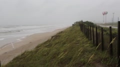 Initial Impacts of Hurricane Arthur to Onslow Beach / Camp Lejeune Stock Footage