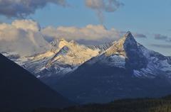 Little chief mountain at sunrise, glacier national park, montana, usa, north  Stock Photos