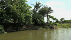 Brazil Amazon backwater bank near Santarem Stock Footage